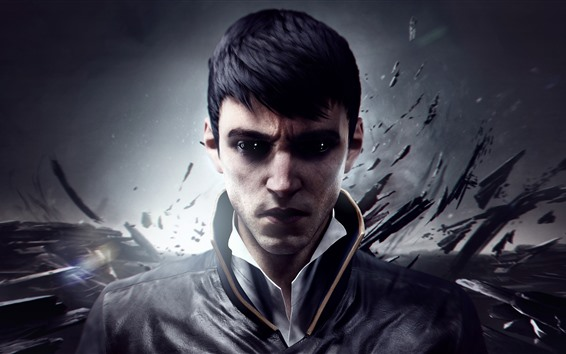 Wallpaper Dishonored 2, video game, man