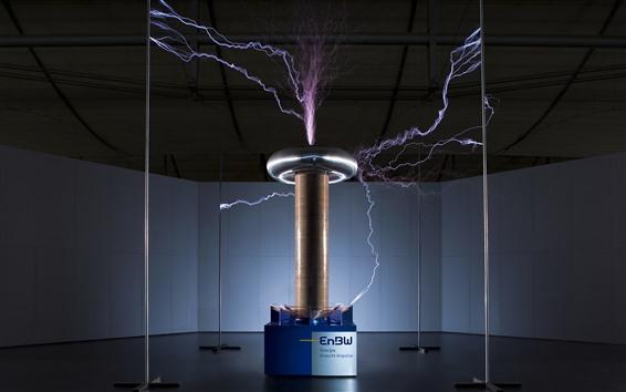 배경 화면 전기 과학 시험, 번개