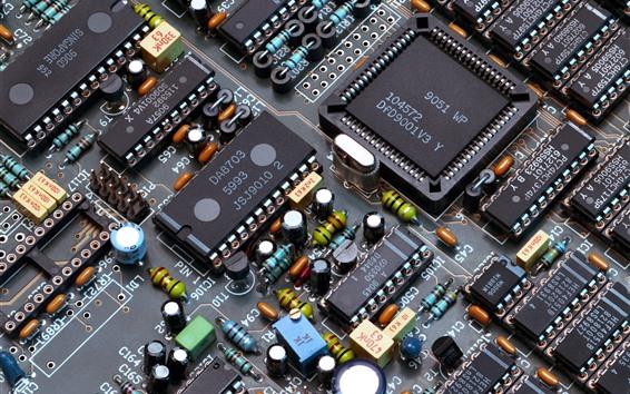 Fondos de pantalla Componentes electrónicos, chips, PCB
