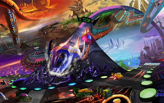 Wallpaper F-Zero, Nintendo video game