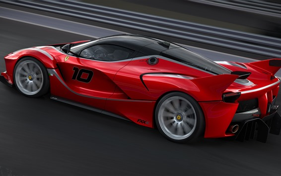 Wallpaper Ferrari FXXK red supercar speed