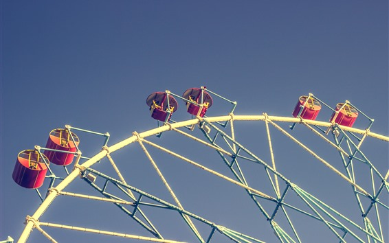 Papéis de Parede Rodas-gigantes, assentos, céu