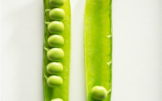 Fondos de pantalla Guisantes verdes, fondo blanco