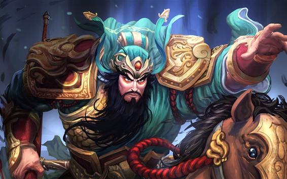 Fondos de pantalla GuanYu, héroe, cuadro del arte