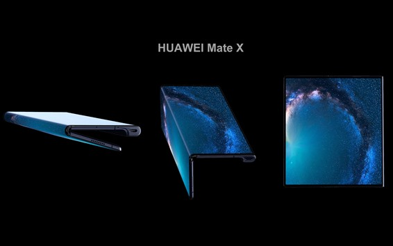 Wallpaper HUAWEI Mate X 5G Smartphone, can bend and stretch OLED display