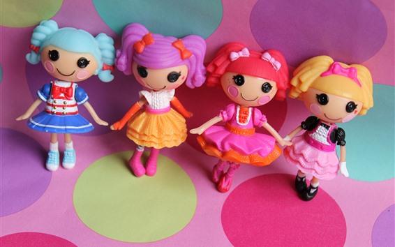 Papéis de Parede Lalaloopsy, meninas de brinquedo colorido anime