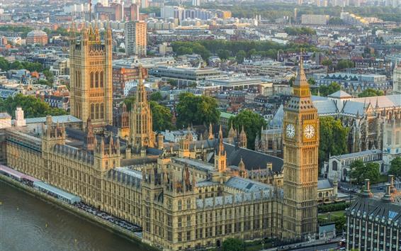 Wallpaper London, Big Ben, buildings, city, England