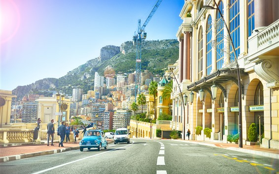 Fondos de pantalla Mónaco, europeo, ciudad, calle, edificios, camino, gente