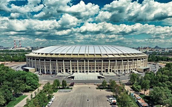 Papéis de Parede Moscou, Luzhniki, estádio, cidade, Rússia