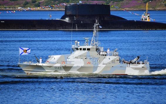 Wallpaper Navy, ship, submarine