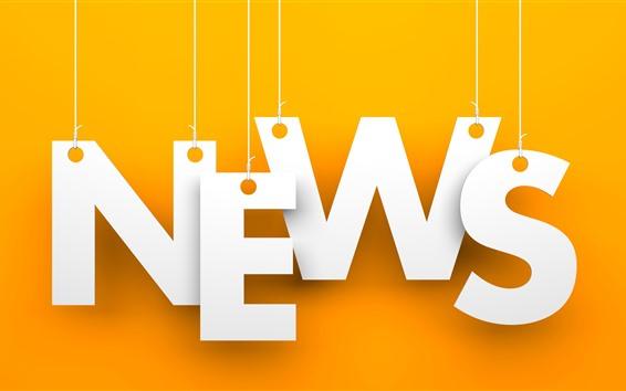 Papéis de Parede Notícias, fundo laranja, imagem criativa
