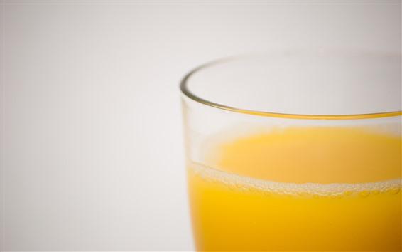 Fondos de pantalla Zumo de naranja, Copa de vidrio, bebidas