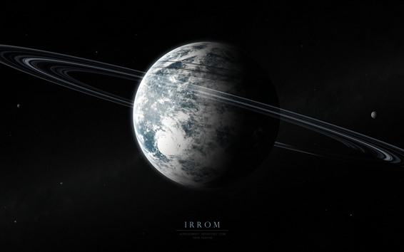 Fondos de pantalla Planetas, lunas, anillos, espacio.