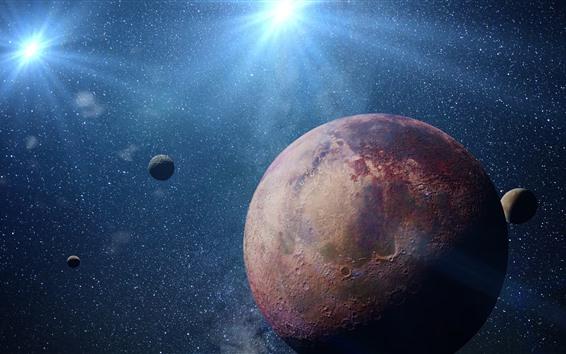 Papéis de Parede Planetas, estrelas, luz, espaço