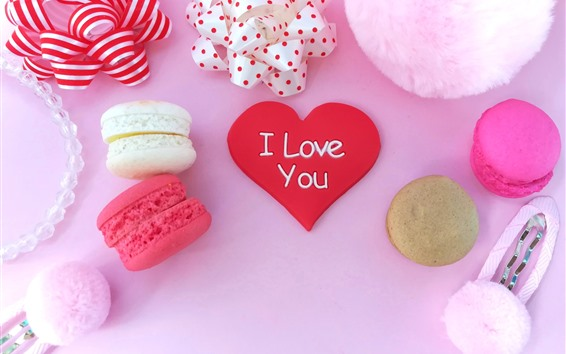 Fondos de pantalla Corazón de amor rojo, pasteles, decoración.