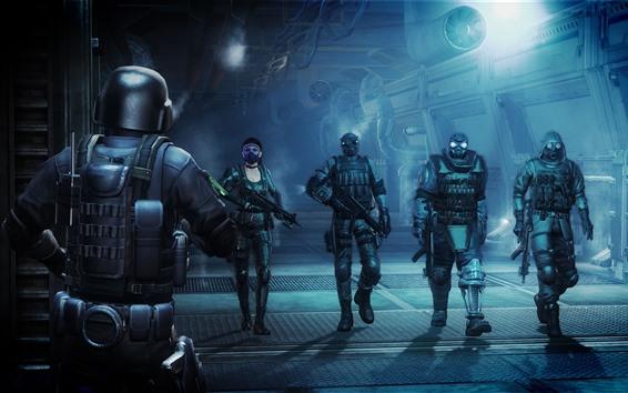 Fond d'écran Resident Evil, soldats, jeu vidéo