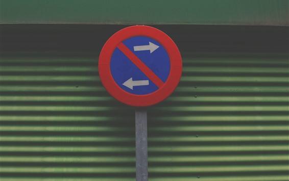 Fondos de pantalla Señal de tráfico, izquierda y derecha.