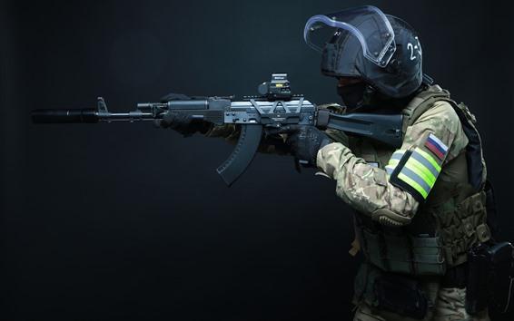 Fondos de pantalla Fuerzas especiales, rifle de asalto AK-103