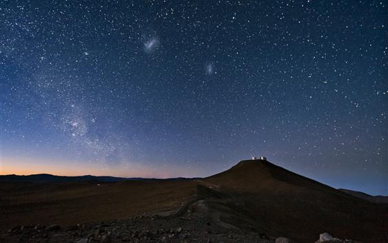 Fondos de pantalla Estrellada, cielo, noche, montaña