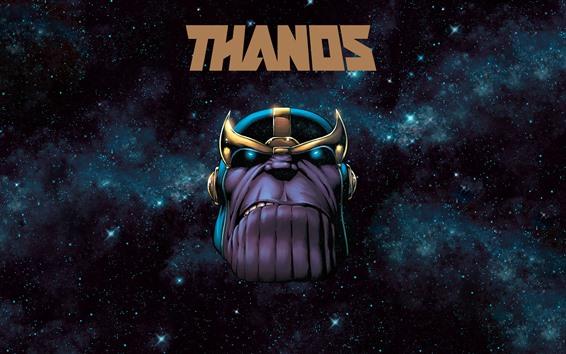 Papéis de Parede Thanos, espaço, estrelas, Marvel Comics