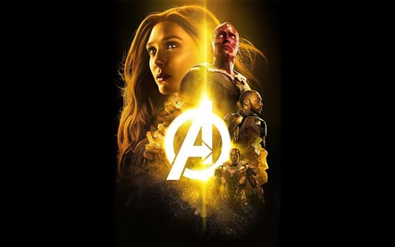 Fond d'écran Les Vengeurs, super-héros, film Marvel, fond noir