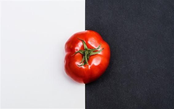 Wallpaper Tomato, black and white