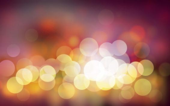 Papéis de Parede Círculos de luz quentes, brilhantes