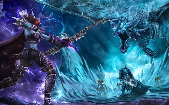 Wallpaper World of Warcraft, Lich King, archer, monster