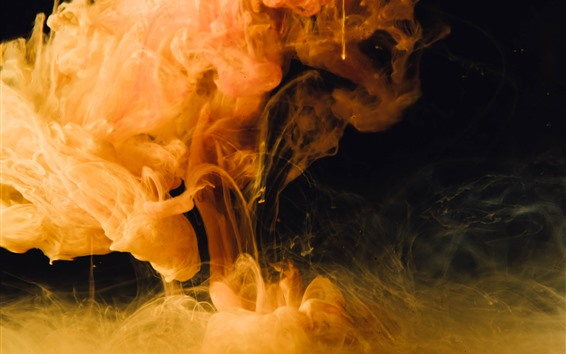 Wallpaper Yellow smoke, abstract