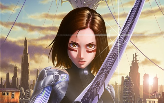 Wallpaper Alita: Battle Angel, art picture