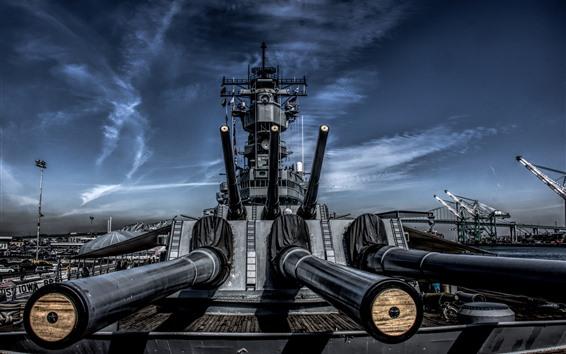 Wallpaper Battleship, guns