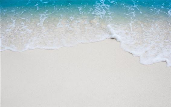 Wallpaper Beach, sea, foam, sands
