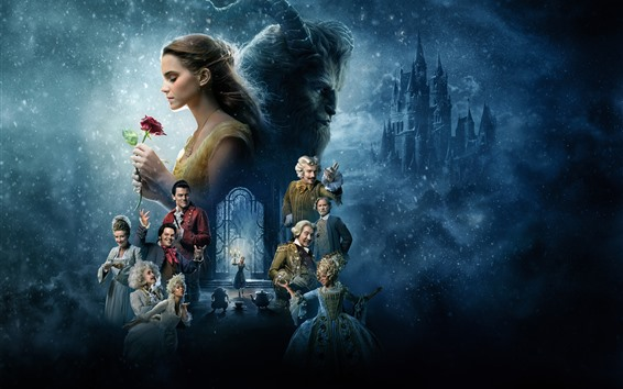 Wallpaper Disney movie, Beauty and the Beast