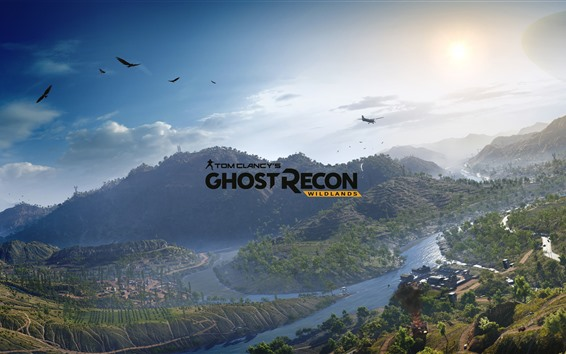 Wallpaper Ghost Recon: Wildlands, mountains, trees, aircraft
