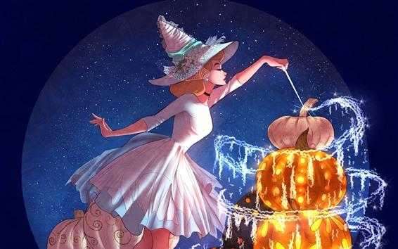 Hintergrundbilder Magisches Mädchen, Kürbis, Anime