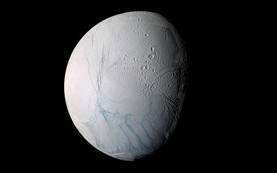 배경 화면 달, 행성 표면, 검은 배경, 공간