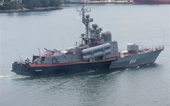 Wallpaper Navy, ship, weapon, battleship, river
