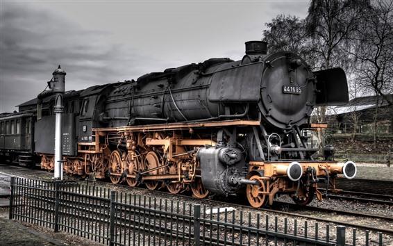 Papéis de Parede Trem velho, trem do vapor