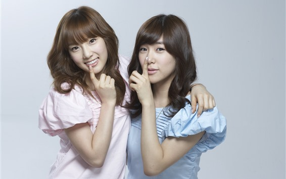 Fondos de pantalla SNSD, dos chicas coreanas