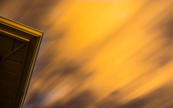 Wallpaper Sky, dusk, door