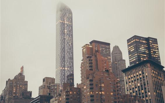 배경 화면 고층 빌딩, 도시, 건물