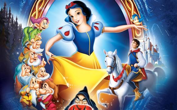 壁紙 白雪姫, 古典的な漫画