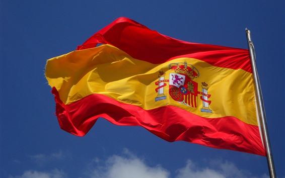 Wallpaper Spain flag, wind