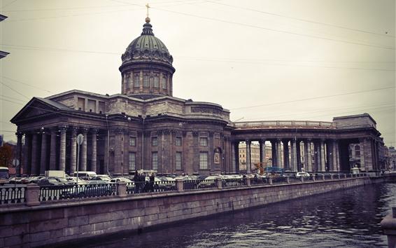 Wallpaper St. Petersburg, Kazan cathedral, river