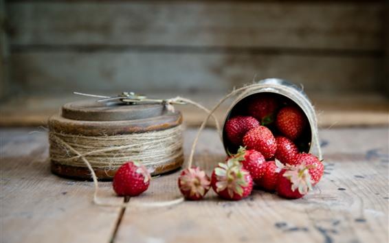 Wallpaper Strawberry, rope