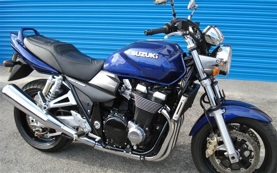 Papéis de Parede Suzuki GSX 1400 motocicleta azul