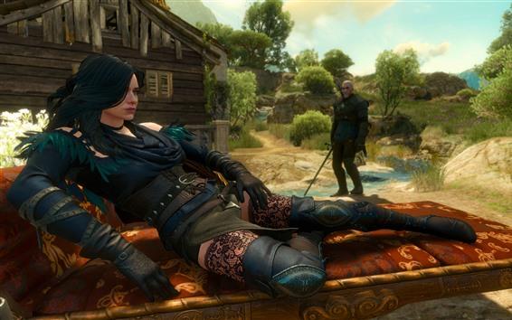 Papéis de Parede The Witcher 3: Wild Hunt, linda garota, videogame