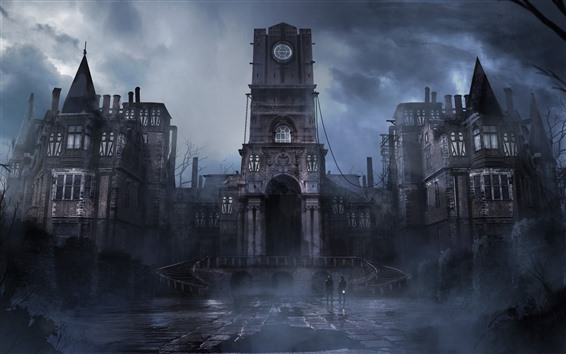 Wallpaper Thief, PS4 game, castle, fog