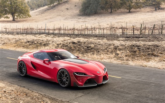 Wallpaper Toyota FT-1 red supercar