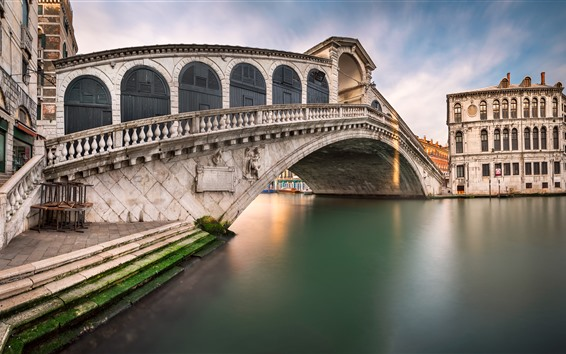 Wallpaper Venice, Italy, bridge, river, city
